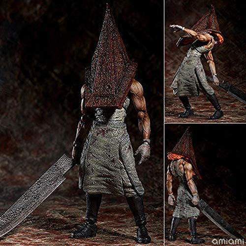 POIUYT Action-Figur-Dreieck-Kopf Red Pyramid Head Joint Movable Charakter Modell Spielzeug