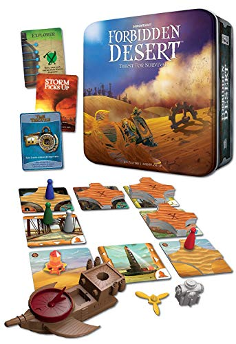 Gamewright Forbidden Desert – The Cooperative Strategy Survival Desert Board Game Multi-colored, 5