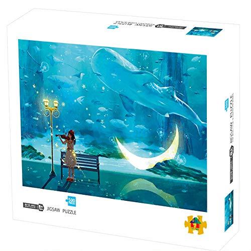 Herize Puzzle 500 Teile für Erwachsene | Geigenmädchen Puzzle für Kinder | Kinderpuzzle Spiele ab 8 Jahren | Spielzeug für Mädchen Jungen Teenager | Geschenke für Männer Frauen Mama Papa | 50X40CM.