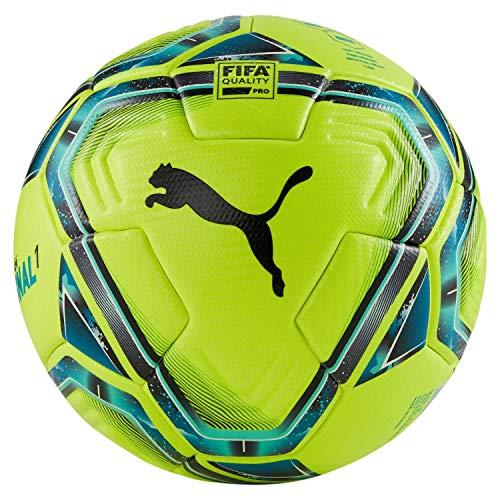 PUMA Unisex– Erwachsene teamFINAL 21.1 FIFA Quality Pr Fußball, Lemon Tonic-Spectra Green-Ocean Depths Black-Omphalodes, 5