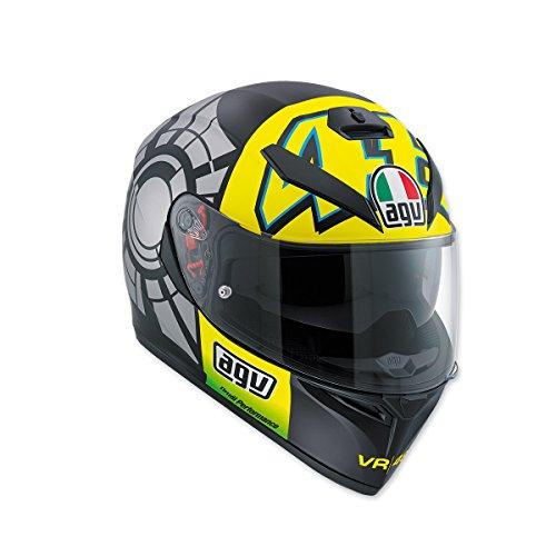 AGV K-3SV invierno prueba 2012Full Face casco, Negro / Amarillo