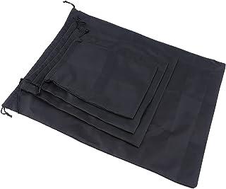 Générique Ristiege Sacs à Cordon en Nylon pour Les Voyages et Les activités de Plein air,Noir 1,20 * 30 cm