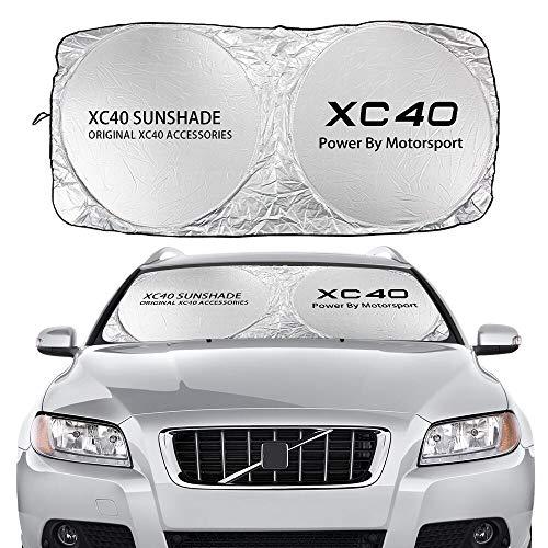Parasol Coche Cubierta de Sombreros de Parabrisas de automóviles Compatible con Volvo AWD C30 C70 S60 S80 S90 T6 V40 V50 V60 V60 V90 XC40 xc60 xc70 xc90 Auto Accesorios Cortina de Malla para Coche