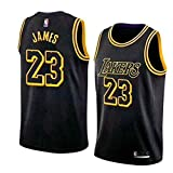 Basketballtrikot für Herren Lebron James #23 - NBA Lakers, Neu Stoff Bestickt Swingman Jersey Hemd...