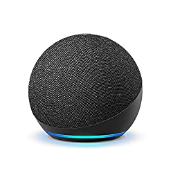 commercial Brand New Echo Dot (4th Generation) | Smart Speaker with Alexa | Coal nti echo 3