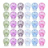 TENDYCOCO 50 Pz Plastica Molla Molla Blocco Fine Molla Tappo Cavo Serrature Ginocchiera Tappi per Coperchio Viso con Coulisse Zaino Forniture Artigianali (Colore Casuale)