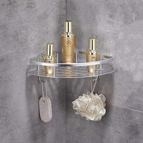 Best Price! LLDMZ Space Aluminum Shower Caddy Corner Basket Shelf Bathroom Organizer Wall Mounted St...