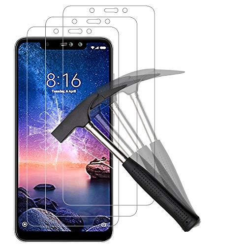 ANEWSIR [3 Stück] Displayschutzfolie für Xiaomi Redmi Note 6 Pro Schutzfolie, ohne Luftblasen, Anti-Kratzen, Anti-Öl, Gehärtetes Glas Displayschutzfolie Displayschutz Folie Für Redmi Note 6 Pro