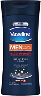 Vaseline Mens Extra Strength Lotion 10 Ounce (295ml) (3 Pack)