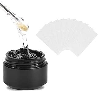 Ownest Poly Nail Gel Kit, Nail Builder Gel, Nail Extension Gel, Nail Enhancement UV Gel Nail Art Manicure Tool Set with 10PCS Fiberglass Nail Wrap & Nail Forms Tips Brush