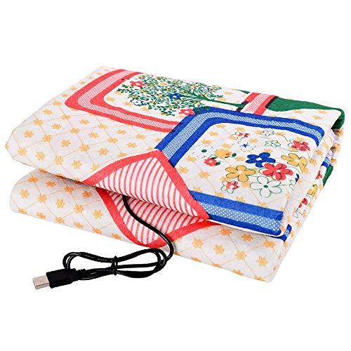 Auto elektrische deken USB, dubbelzijdig printen Comfortable Single Verwarming pincet, Kluis Verwarming Pad, Winter Keep Warm Mat, 95x65CM