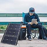 NUB 60W Cargador Solar Portátil, 2 Puertos USB y Paneles Solares Impermeables con LCD Amperímetro Digital para Dispositivos USB Recargables, iPhone, Etc