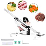 Aiky Manual Frozen Meat Slicer for Home Use Prime Stainless Steel...