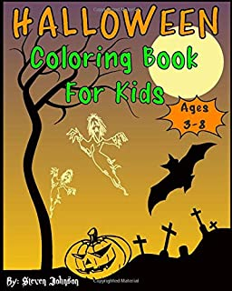 Halloween Coloring Book For Kids: Ages 3-8