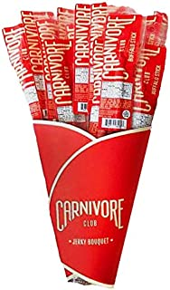 Carnivore Club Exotic Jerky Bouquet - Includes 20 Delicious Exotic Meat Sticks in 4 Flavors - Jerky Lover Gift - Fun Gift For Men and Women - Wild Game Sampler