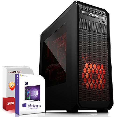 Multimedia Gaming PC AMD A10-8770 Pro 4x3.8GHz|ASUS Board|16GB DDR4|512GB SSD|Radeon HD R7 HDMI|DVD-RW|USB 3.0|SATA3|Windows 10 Pro|Made in Germany|3 Jahre Garantie