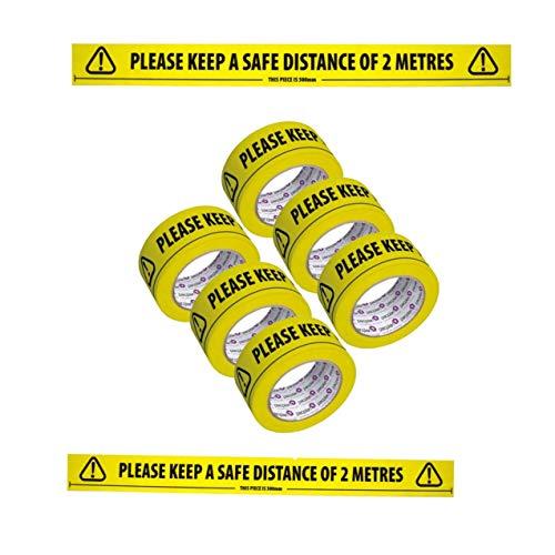 Reemky Safety Tapes 1 Pack 45mmX20m Black /& Yellow Self Adhesive Hazard Warning Tape