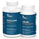Dr. Tobias Colon Health Bundle with Colon 14 Day Cleanse & Psyllium Daily Supporting Healthy Bowel Movements