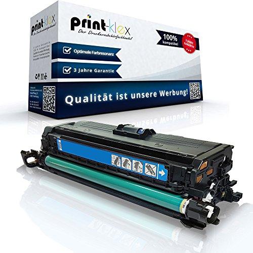 Print-Klex Kompatible Tonerkartusche für HP Color LaserJet CP 3525 Series Color LaserJet CP 3525 X CE251A Cyan Blau - Office Print Serie
