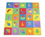 Bigood 10pcs Tapis de Jeux Bébé Enfant Mousse Cadeau 30x30x1cm Fruit Multicolore