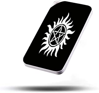 Portable Charger Cell Phone Power Banks 2.1A Output Dual USB Port External Battery Pack for Smartphone Fast Safe Charge 20000mAh Anti Possession Tattoo Symbol White Version Supernatural Inspired