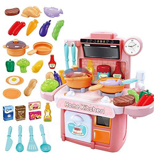 Niños Cocina Alimentos Cocinar Papel Juegos de simulación Aerosol Agua Efecto de Sonido Plástico Niños Cocina Juego de Juguetes