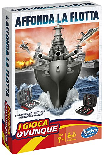 Hasbro Gaming - Affonda la Flotta Travel (Gioco in Scatola), B0995103 [Lingua Inglese]