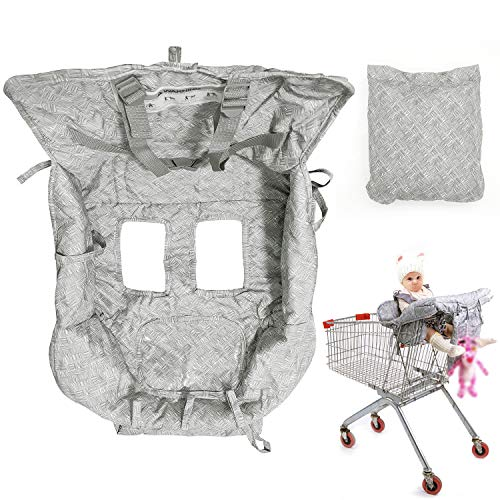 Shopping Cart Cover High Chair Cover for Baby Toddler, Foldable Universal Fit...