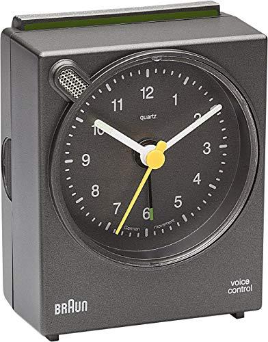 Braun Quarzwecker analog, grau BNC004GYGY