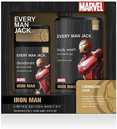 Every Man Jack Body Kit Marvel Iron Man 16 9 ounce Body Wash 3 ounce Deodorant Naturally Derived product image