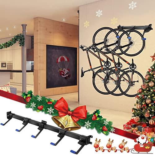 Vogvigo Estante de almacenamiento para bicicletas de 1,2 metros, puede acomodar 5 bicicletas, gerente de casa y garaje, soporte de pared ajustable deslizante
