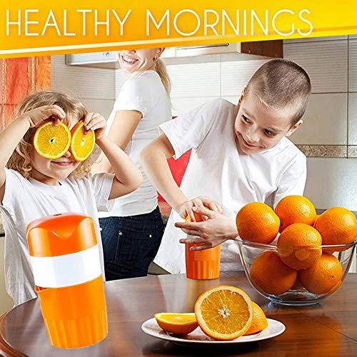 Centrifuga manuale, spremiagrumi manuale, spremiagrumi multifunzione arancione, agrumi lime, spremiagrumi a mano, grande capacità, Arancione