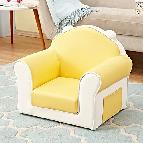 HAKN Canapé pour enfants, cadeau d'anniversaire de mini-canapé siège de dessin animé mignon bébé maternelle (Couleur : Le jaune)