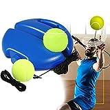 LEEWENYAN Entrenador de Tenis, Equipo de Entrenamiento Tennis Trainer Set Trainer Baseboard con 2 Bolas de Rebote, Autoestudio Solo Entrenamiento de Tenis para Niños Adultos Jugador Principiante