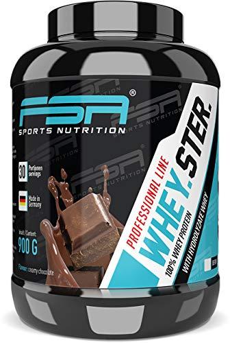 Premium Whey Protein Eiweißpulver zum Muskelaufbau und Abnehmen, Schokolade, 30 Portionen - FSA Nutrition