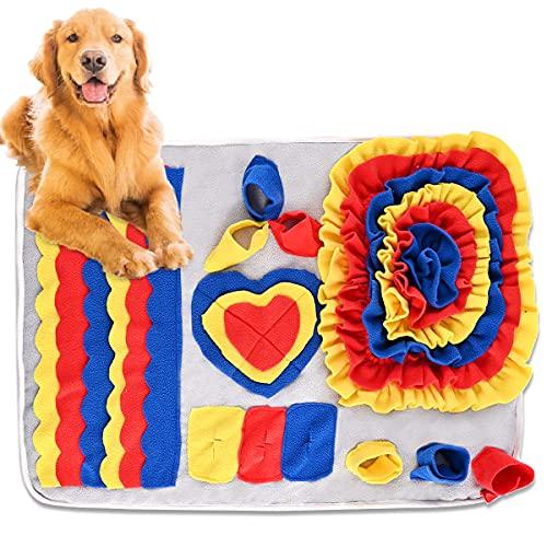 Nabance Sniffing Tappeto per Cani Snuffle Mat Dog Sniffing Mat Dog Sniff Carpet Sniffing Tappetino Giochi interattivi per Cani Tappetino da Allenamento Antiscivolo Lavabile in Lavatrice 65x48cm