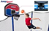 JumpSport Proflex Basketball Hoop Accessory & Inflatable Ball for Trampoline | Fits AlleyOOP, Elite Classic Safety Enclosures (Classic) | Trampoline Sold Separately