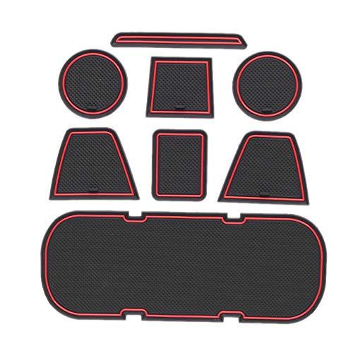 SODIAL Anti-Rutsch-Auto-TüR-Gummi-Cup-Kissen?Rot Gate Slot Pad für 86 BRZ GT86 FT86 FR-S 2012-2019 Mat Zubeh?R