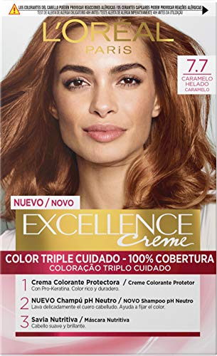 l'Oreal Paris Excellence Coloración Crème Triple Protección, 7.7 H.Brown 550