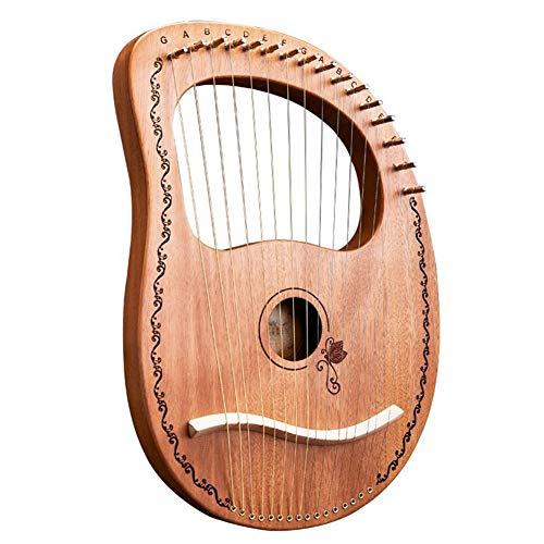 Class.Z Kleine Harfe 16 String Lyre Harfe Metallsaiten Tragbare Mahagoni Leierharfe Hochwertige Qualität mit Gig Bag für Musikliebhaber Anfänger Kind Erwachsene Geschenk Grand