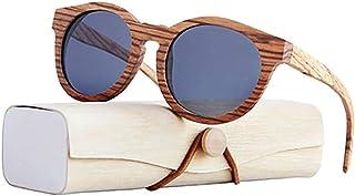 H-O - H-O Gafas de Sol de Madera/bambú Unisex, Gafas de Sol de Madera polarizadas exclusivas para Mujeres y Hombres con Mangos de Madera con Gafas de protección UV UV400