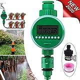 Jeteven Automatische Bewässerungsuhr Wasser Timer,Zeitmesser Zeitschaltuhr LCD Display Digital Automatische zeitsparende Bewässerung mit wasserdichtem Schutzdeckel für GartenGewächshaus Landwirtschaft