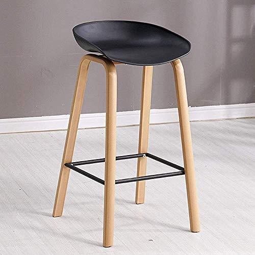 Bar Taburete Simple Modern Solid Wood ABS Silla de la barra Contador de barra Taburete Estilo Norte Moda Creativo Furniture Taburete / 74cm (29 pulgadas),C