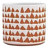 Amazon Brand – Stone & Beam Modern Ceramic Triangle Decor Planter Pot, 5 Inch, White and Terra Cotta