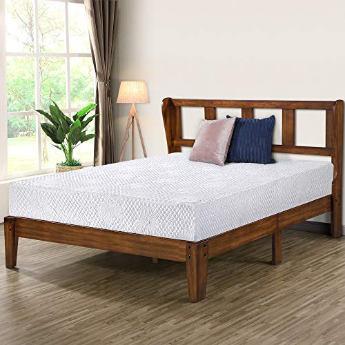 Olee Sleep 14 Inch Deluxe Platform Headboard,Wood Bed Frame, King, Natural