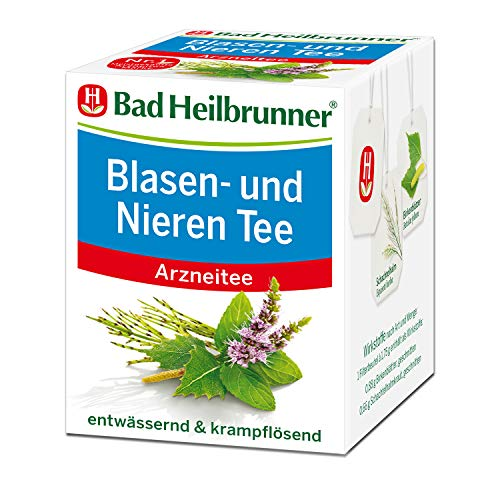 Bad Heilbrunner Blasen- und Nieren Tee im Filterbeutel, 12er Pack (12 x 8 Filterbeutel)