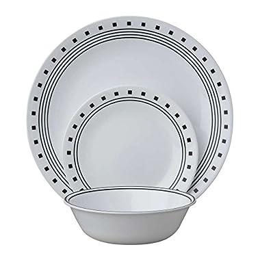Corelle Livingware 18-Piece Dinnerware Set, City Block, Service for 6