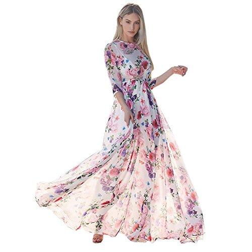 Damen Maxikleid Kleider Lang, Kanpola Elegant Party Madi Kleid Boho Blusenkleider Cocktailkleider...