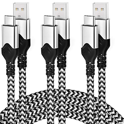 USB Type C Cable 10 Ft,3 Pack Long Fast Charger USB C Cable for Samsung Galaxy S10 S9 S8 Plus,DEEGO Nylon Braided High Speed Cord Compatible for Note 10 9 8,Google Pixel 3 3a 2XL,Moto G6 G7,LG V30