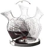 Juego De Decantadores De Whisky para Hombres Juegos De Decantadores De Whisky Decantador para Alcohol 1500Ml con Base De Vidrio De Acero Inoxidable Botella De Decantador De Vino En Espiral Superior